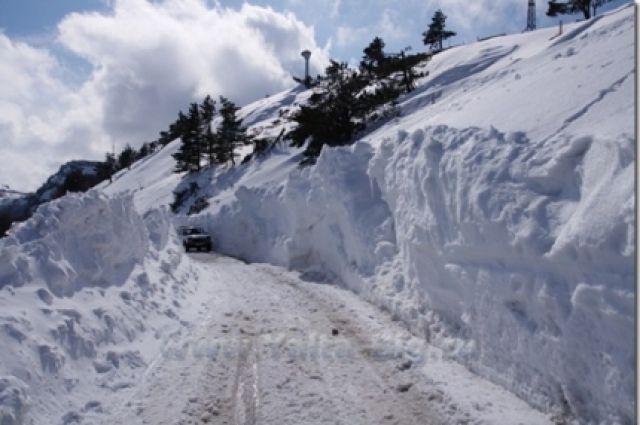 Угроза схода снежных лавин существует ввыходные вгорах Крыма