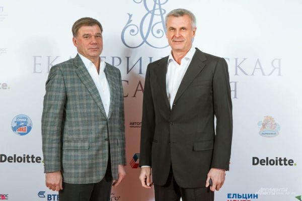 Управляющий директор НТМК Алексей Кушнарев и мэр Нижнего Тагила Сергей Носов (справа)