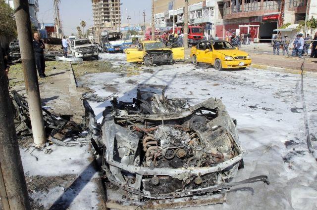 Взрыв вБагдаде: 10 человек погибли, 17 ранены