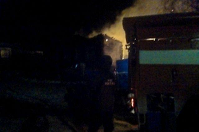 Напожаре вКлепиковском районе пострадал человек