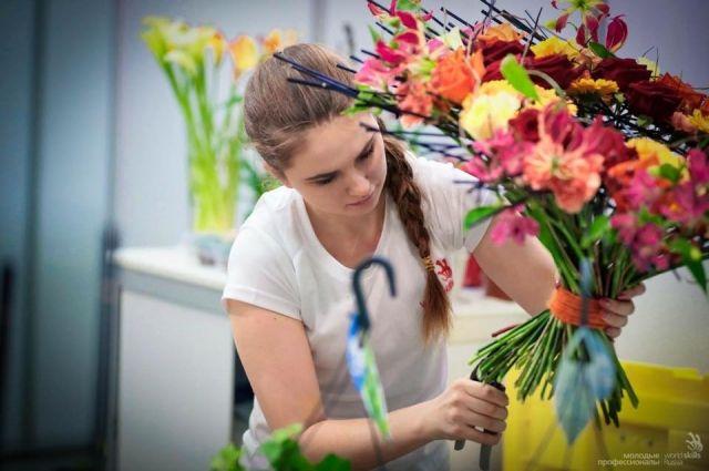 Впервые на конкурсе участвовали российские флористы