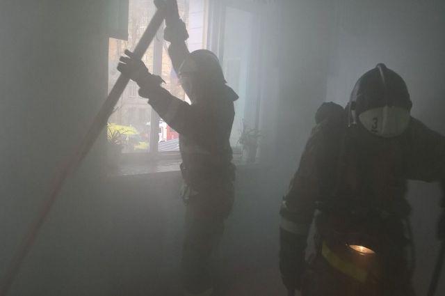 Пожар полностью ликвидировали за полчаса.