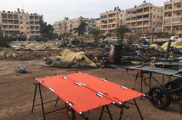 Из-за задержки в подаче автобусов несколько десятков сирийских детей не оказались в момент обстрела в приемном отделении госпиталя.