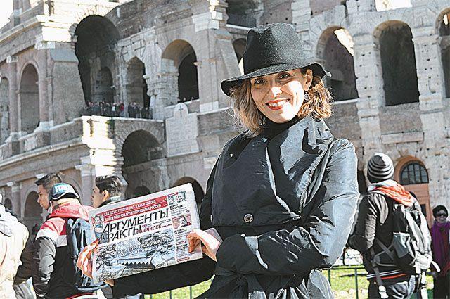 Елена Бухтоярова провела 5 счастливых дней в Риме.