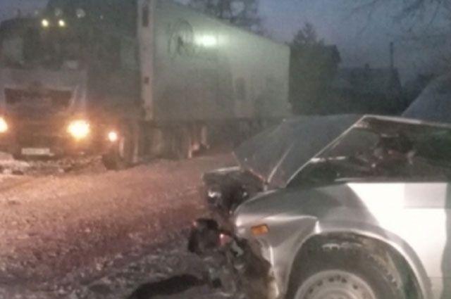 ВРыбинском районе «семерку» смяло в итоге столкновения с грузовым автомобилем