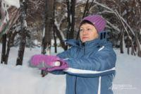 Новосибирцы с удовольствием вышли на зимнюю зарядку