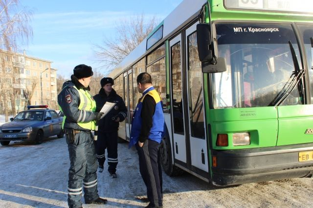 ВКрасноярске проверили водителей маршруток