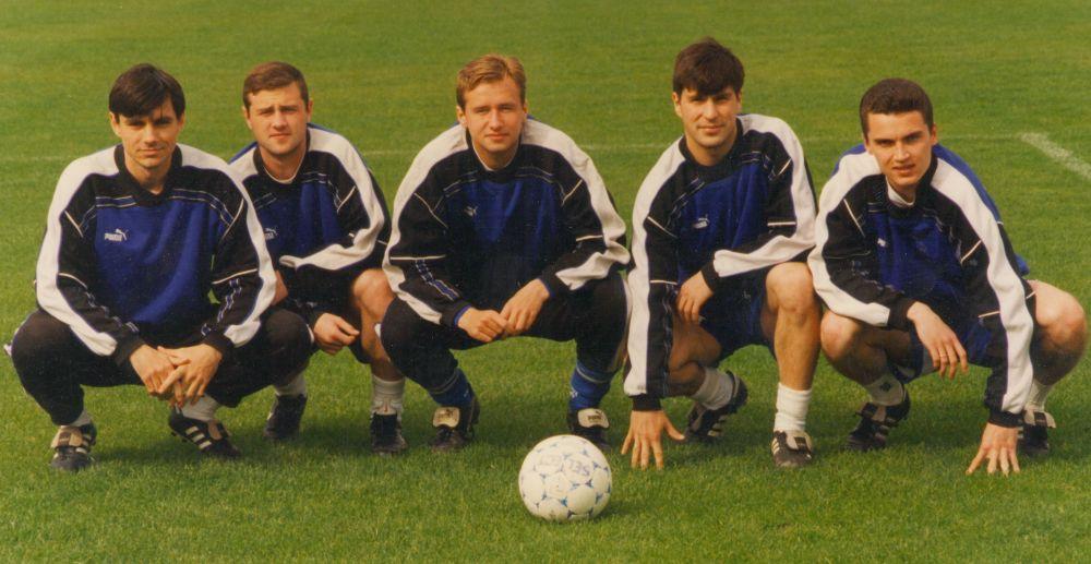 Валерий Бурлаченко, Алексей Бахарев, Максим Тищенко, Андрей Кривов, Виталий Абрамов. 1990-е.