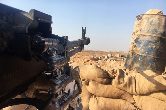 Огневая позиция сирийской армии.