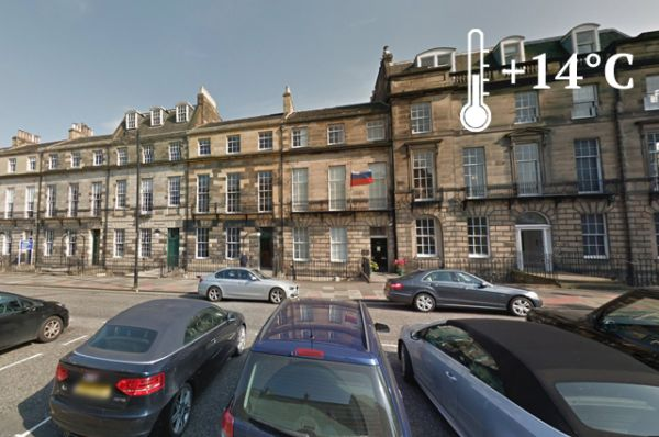 Самым крупным земельным владением, принадлежащим России и находящимся за ее пределами, является 345 000 квадратных метров земли в Эдинбурге на Мелвилл Стрит 58. Здесь расположилось генеральное консульство Российской Федерации в Шотландии.