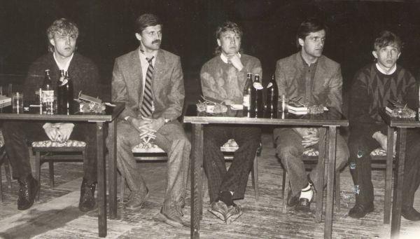 Юрий Калитвинцев, Александр Хомутецкий, Игорь Суровикин, Владимир Осколков, Александр Борисов. 1980-е.