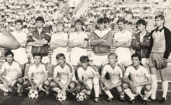 Перед матчем. 1988 год.