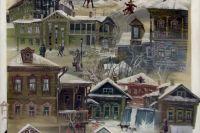 Картина Евгения Канева из серии «Деревянная Казань»