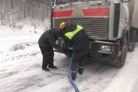 За прошедшие сутки кемеровские спасатели помогли 4 большегрузам.