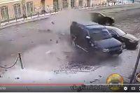 Место аварии с гонщиком.