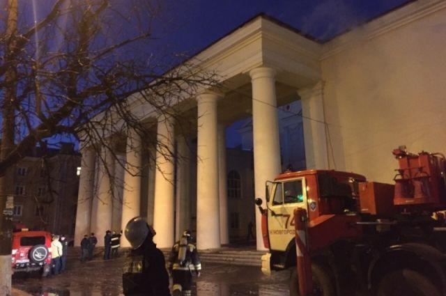 Пожар в ДК им. Оржоникидзе