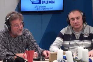 Леонид Ярмольник и Николай Фоменко в студии «Радио Балтком».