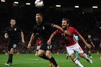 Момент матча «Заря»-«Манчестер Юнайтед»