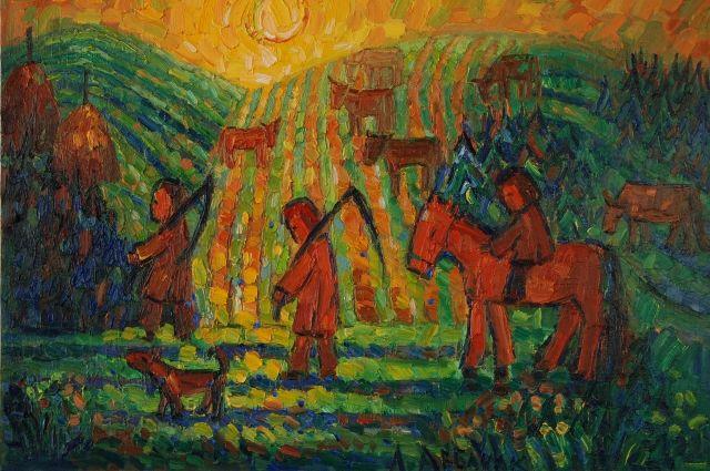 Лошадь помогала в работе, давала молоко и мясо.