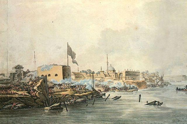 Гравюра С. Шифляра «Штурм Измаила 11(22) декабря 1790 года»/