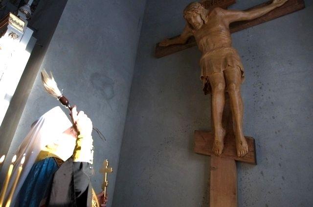 Освящение креста.