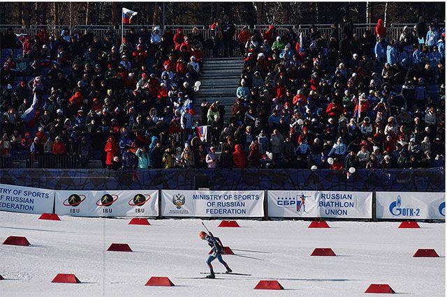 ВУфе прошёл 2-ой этап кубка РФ побиатлону среди мужчин