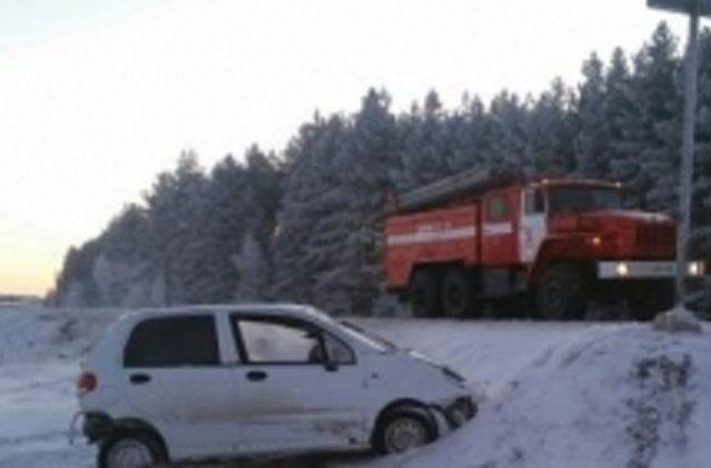 Водитель «Daewoo Matiz» не справился с управлением.