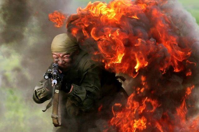 Тренировка российского спецназа. Таджикистан.