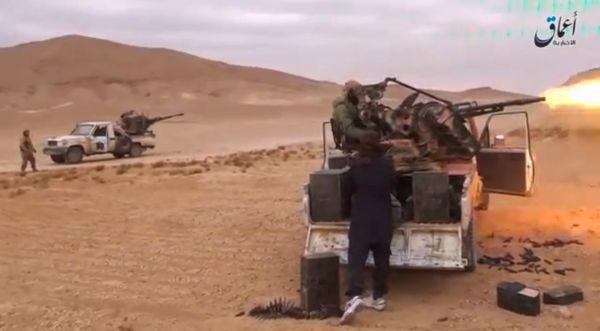 Позиции боевиков ИГ к югу от Пальмиры.