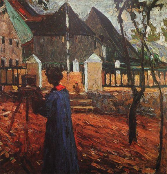 «Габриэль Мюнтер за рисованием», 1903 год