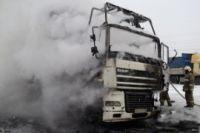 В Бузулукском районе на трассе Оренбург-Самара загорелся грузовик