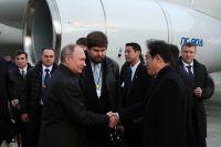 15 декабря 2016. Президент РФ Владимир Путин, прибывший с двухдневным визитом в Японию, во время встречи в аэропорту Ямагути-Убе в префектуре Ямагути.