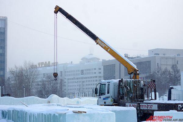 Ледовый городок на пермской эспланаде откроется уже 30 декабря.