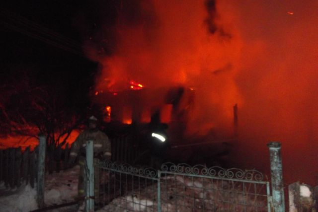 ВВологодской области на100% сгорел дом