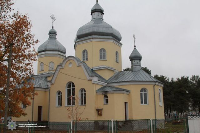 Один из ограбленных храмов