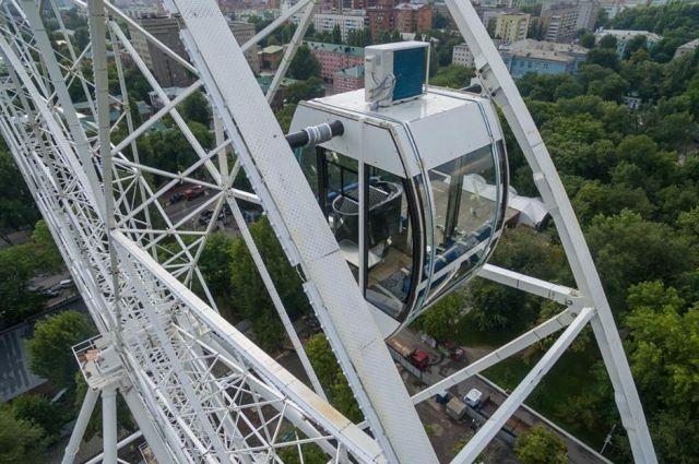 ВЧелябинске монтируют колесо обозрения
