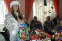 На Новый год в Дом ветеранов пришла Снегурочка