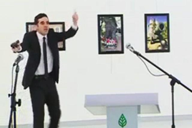 Шокирующее видео убийства русского посла вТурции появилось вглобальной сети