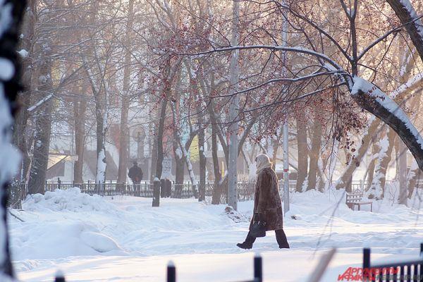 Однако в выходные синоптики обещают резкое повышение температуры вплоть до ‒6°.