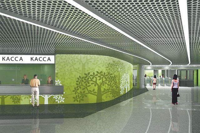 Станция «Раменки» напоминает о дубовых рощах, которые шумели здесь когда-то.