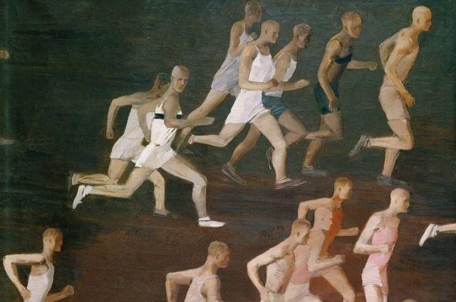 Фрагмент картины Александра Дайнеки