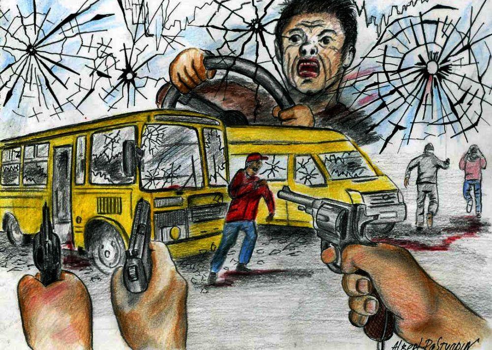 В сентябре на остановке АМЗ в Челябинске хулиганы обстреляли из пневматического пистолета троллейбус и автобус. Пострадавших нет, лишь повреждены стёкла транспортных средств. Злоумышленников никто не видел, так как на улице не горели фонари.