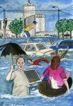 Кроме весеннего паводка в Челябинске случаются наводнения из-за сильных ливней. Причина - засоренная ливневая канализация.