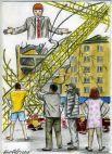 ЧП на стройках далеко не редкость. В июне башенный кран упал на месте возведения жилого дома в Чурилово. У крана лопнул стальной трос, стрела повисла и на площадку упала бетонная плита. К счастью, никто не пострадал.