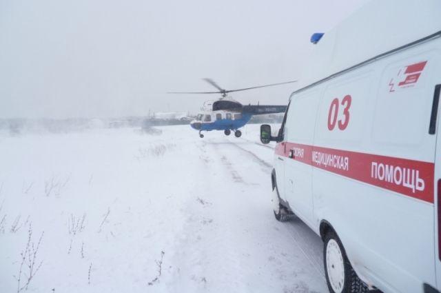 В Грачевку прилетели врачи для спасения жизни пострадавших на пожаре