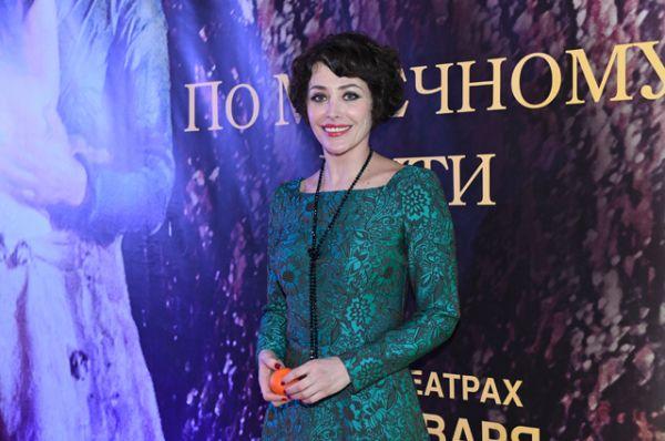Посмотреть кино пришли многие российские знаменитости. Актриса Екатерина Волкова.