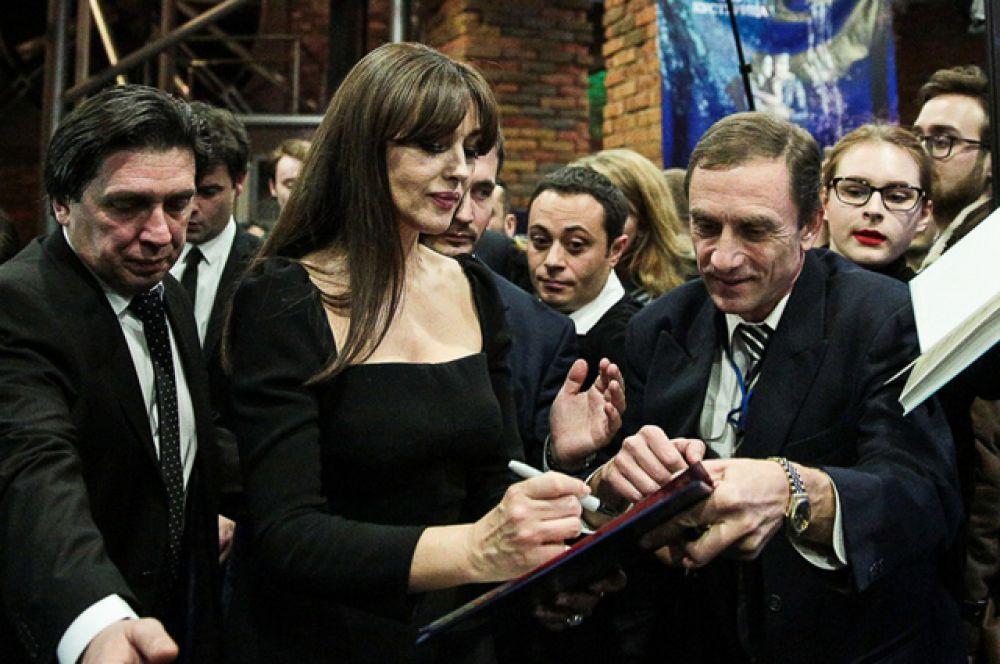 Моника Беллуччи на премьере фильма.