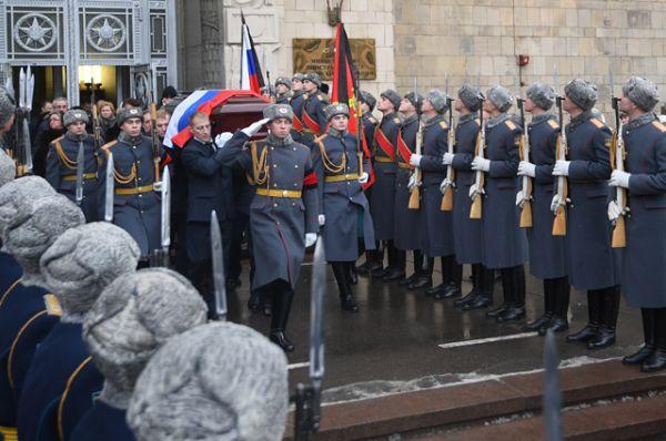 Церемония прощания с послом России в Турции Андреем Карловым.