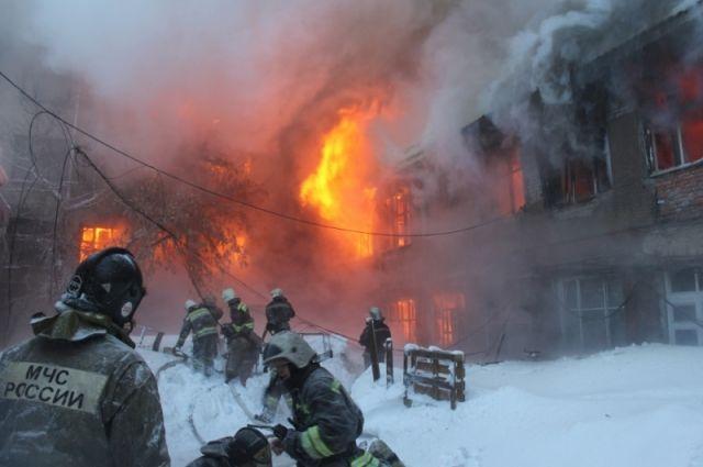 Пожар на радиозаводе.