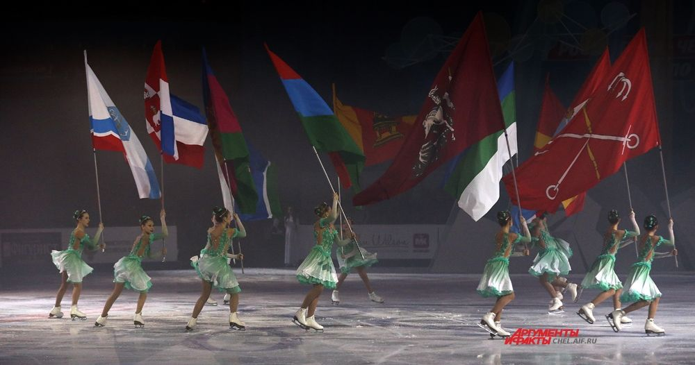 Флаги участников соревнований.